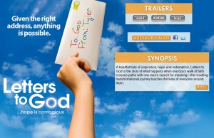 Letters to God Movie Web Design Projects in Los Angeles
