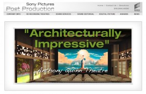 Sony Pictures Post Production Web Design Projects in Los Angeles
